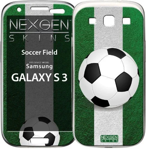 Nexgen Skins GAL30031 - Skin for Samsung Galaxy S3, 3D soccer ball on a football field