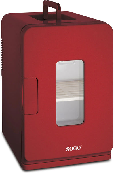 Sogo NEV-SS-475 Windowed Mini Travel Fridge – Thermoelectric cooler with heating