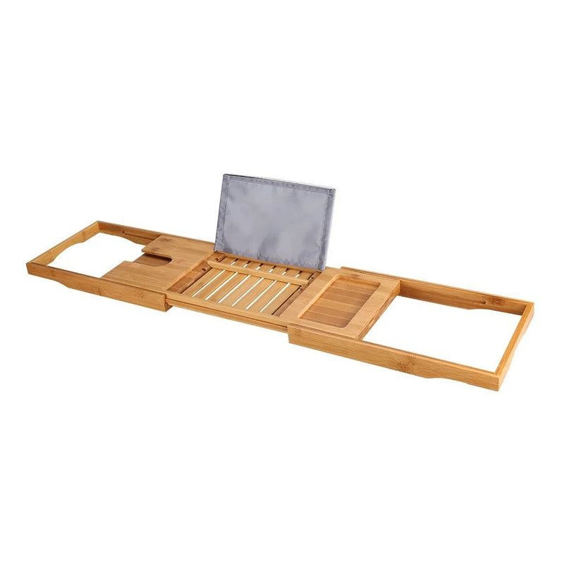 Lenght-adjustable Bamboo Bathtub Caddy
