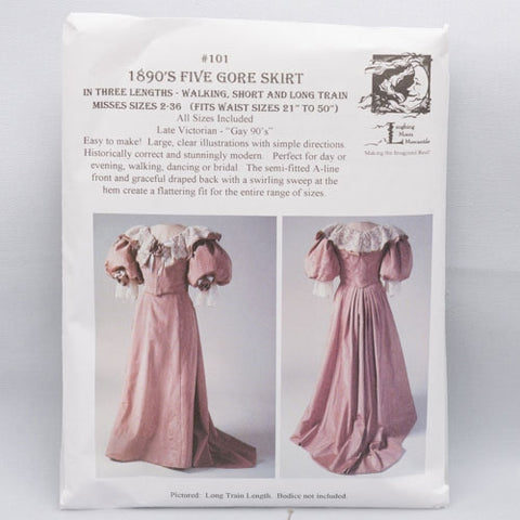 pattern, Victorian walking & trained skirts 3 lengths