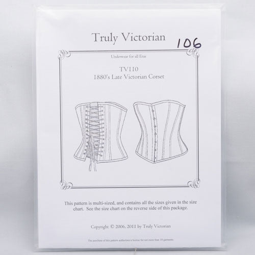 pattern, 1880's Late Victorian Corset