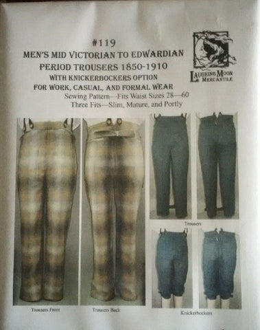pattern, Victorian trousers men's & womens