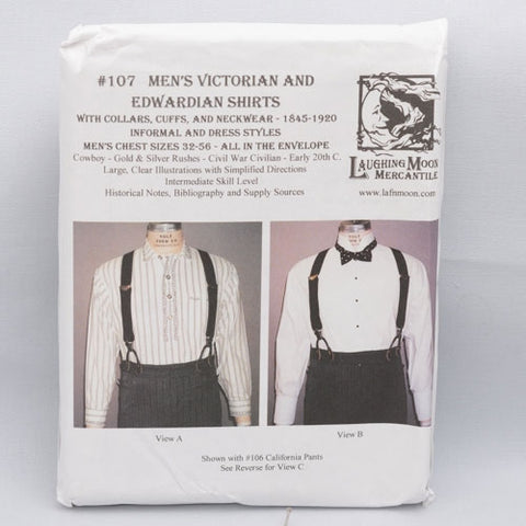 pattern, Victorian shirt men's & womens