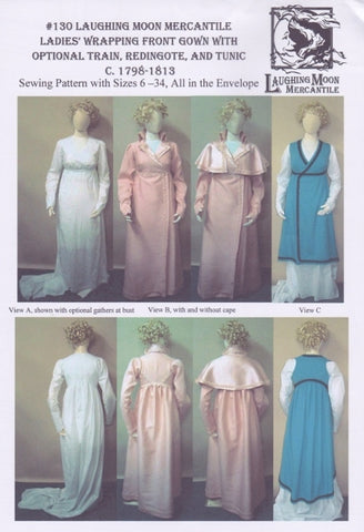 Regency Gown w Wrap Front