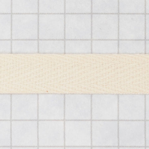twill tape, cotton 9.5 mm (3/8 in) natural (unbleached)
