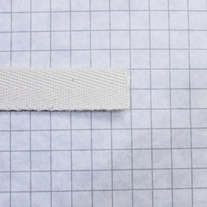 Twill tape, cotton 13 mm (1/2 in) natural (unbleached)