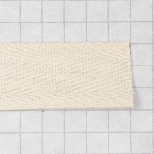 twill tape, cotton 19 mm (3/4 in) natural (unbleached)