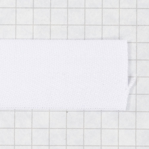 twill tape, poly 25 mm natural (white)