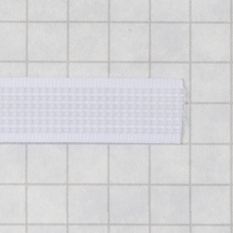Woven boning like Rigelene 10mm wide (3/8inch), White