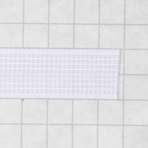Woven boning like Rigelene 12mm wide (15/32 inch), White