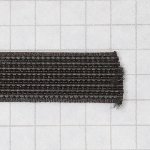 Woven boning like Rigelene 12mm wide (15/32 inch), Black