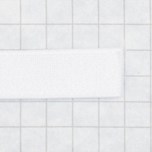 elastic, satin/flocked 13mm (1/2 in) white