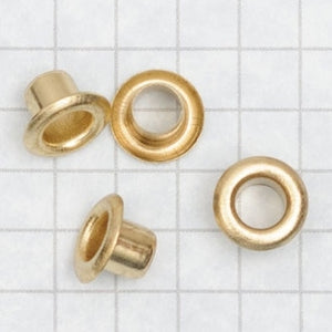 Eyelets with LONGER SHANK, size 00 BRASS