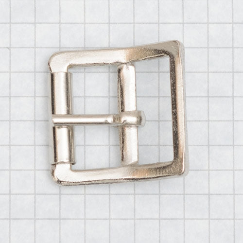 heavy duty buckle, molded with roller, nickel 25mm (1 inch)