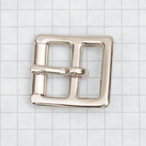 heavy duty buckle, molded with roller, nickel 19mm (3/4 inch)