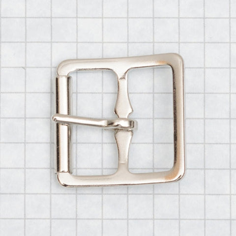 buckle, molded with roller, nickel 25mm (1 inch)