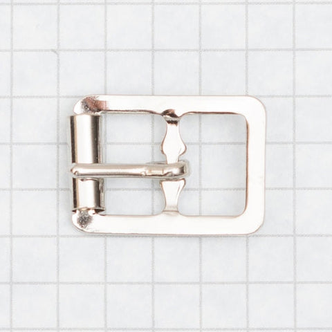buckle, molded with roller, nickel 13mm (1/2 inch)