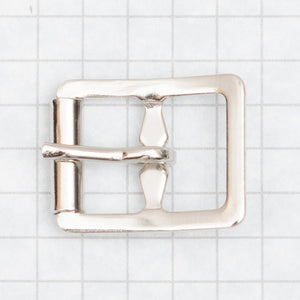 buckle, molded with roller, nickel 16mm (5/8 inch)