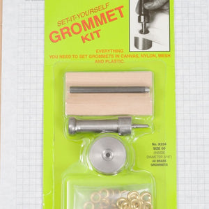 Grommet setting kit size 00 Brass