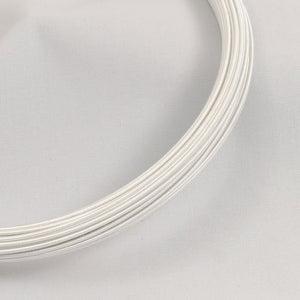 hat wire/millinery wire 16 gauge white 30yd coil