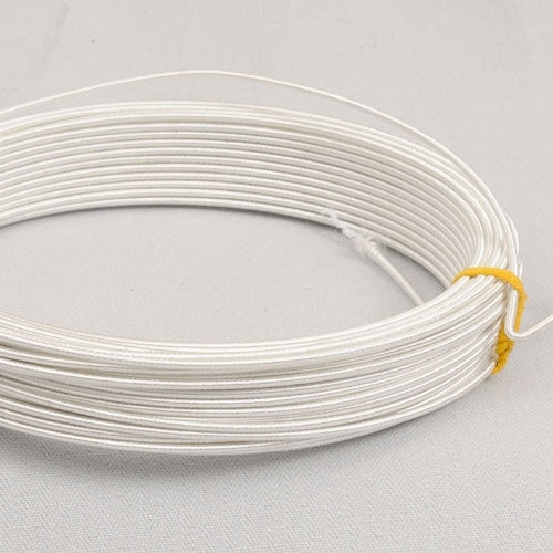 hat wire/millinery wire 19 gauge white 30yd coil