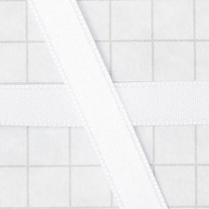 100% Polyester Double Sided Satin Ribbon, 6mm white (1/4 inch)