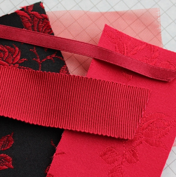 100% Polyester Double Sided Satin Ribbon, 6mm red(1/4 inch)
