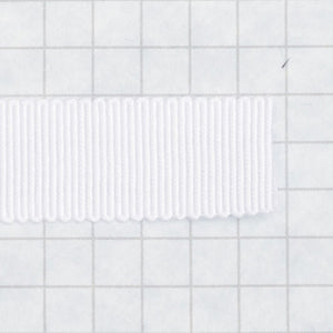 100% Rayon Petersham Ribbon 15mm (9/16 inch) wide - White