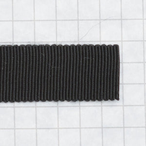 100% Rayon Petersham Ribbon 15mm (9/16 inch) wide - Black