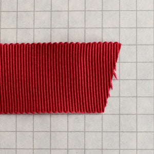 100% Rayon Petersham Ribbon 24mm (1 inch) wide - Red