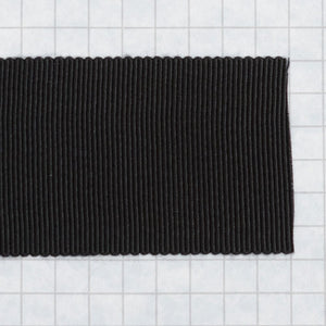 100% Rayon Petersham Ribbon 36mm (1 1/2 inch) wide - Black