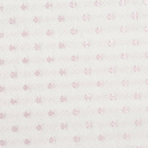 Spot Coutil Cream with Pink Dots, 54 inch wide