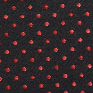 Spot coutil Black w Red dots 54 inch wide