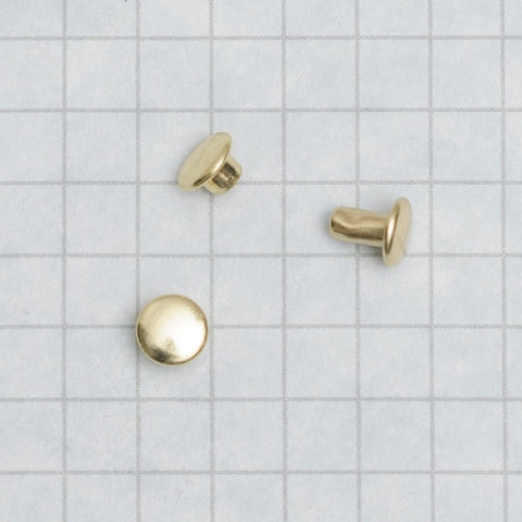 Double Cap Rivet, Brass