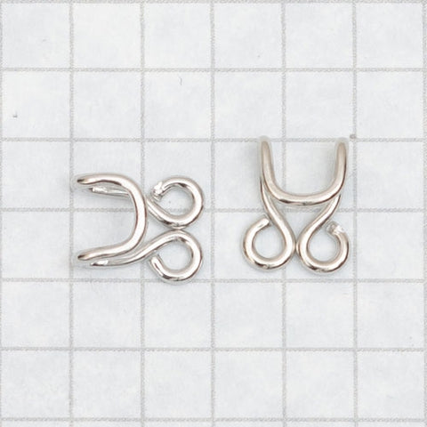 corset hooks nickel, loose