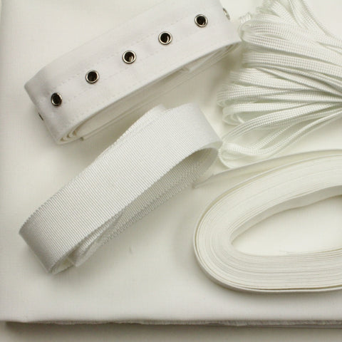 Corset Making Kit - White, no bones or busk