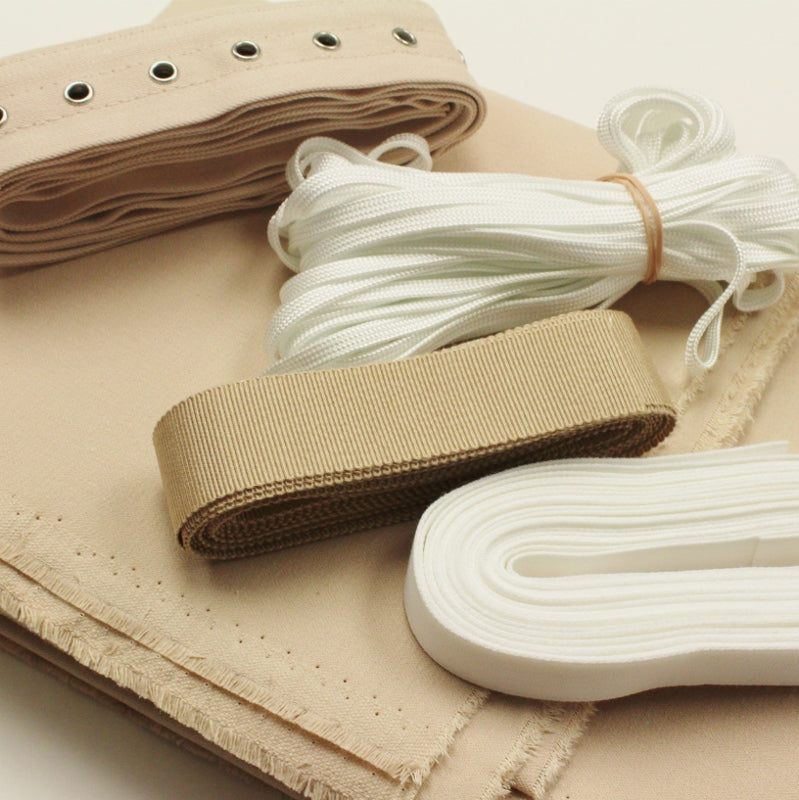 Corset Making Kit - Beige, no bones or busk