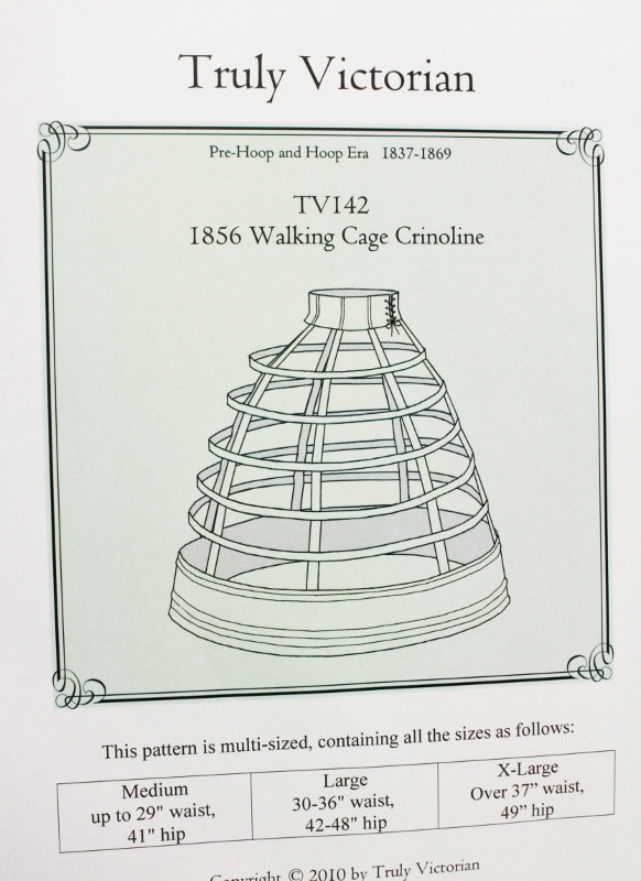 Cage Crinoline Pattern for 1856