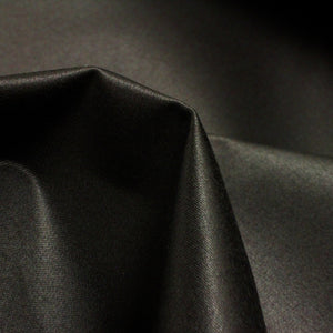 Matte satin coutil, black  54 inch wide