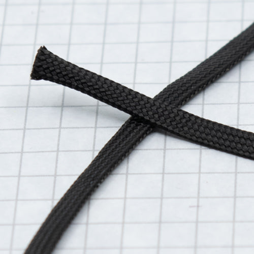Flat braid lacing. 100% Nylon BLACK