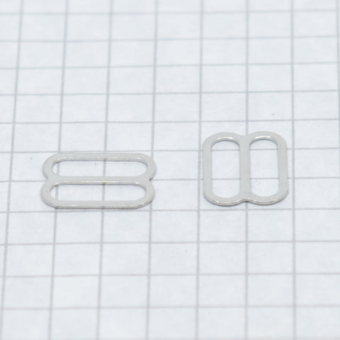 Slides, nickel 13 mm (1/2 in) silver