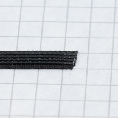 Woven boning like Rigelene 6mm wide (1/4 inch), Black
