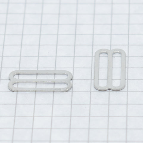 Slides, nickel 19 mm (3/4 in) silver