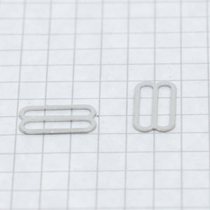 Slides, nickel 16 mm (5/8 in)silver
