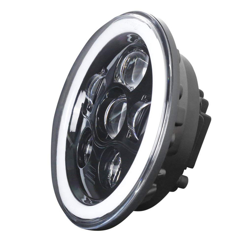 Eagle Lights Generation III Black LED Headlight Kit with LED Halo Ring for 1997-2018 Jeep Wrangler JK, JKU, TJ