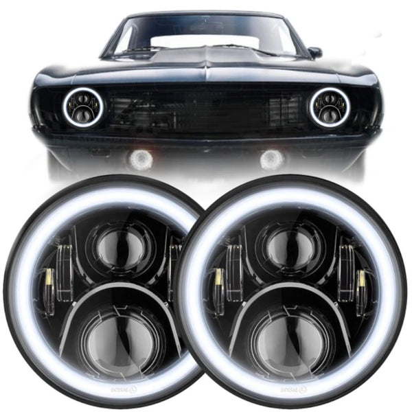 "Eagle Lights Generation II LED Projector 7"" Headlight Kit with Halo Rings for 1967-1981 Chevrolet Camaro"