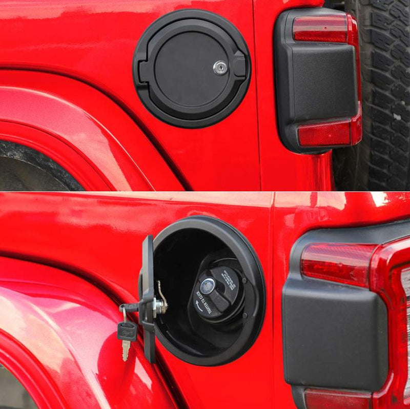 Eagle Lights Locking Fuel Gas Door for 2018-2020 Jeep Wrangler JL