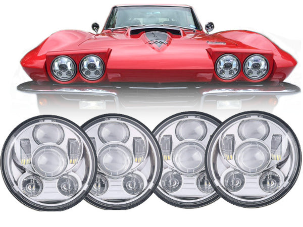 Eagle Lights Generation III Chrome LED Headlight Kit for 1958-1982 Corvette