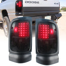 Elite Series Smoked LED Tail Lights for 1994 to 2001 Dodge Ram 1500, 2500, 3500