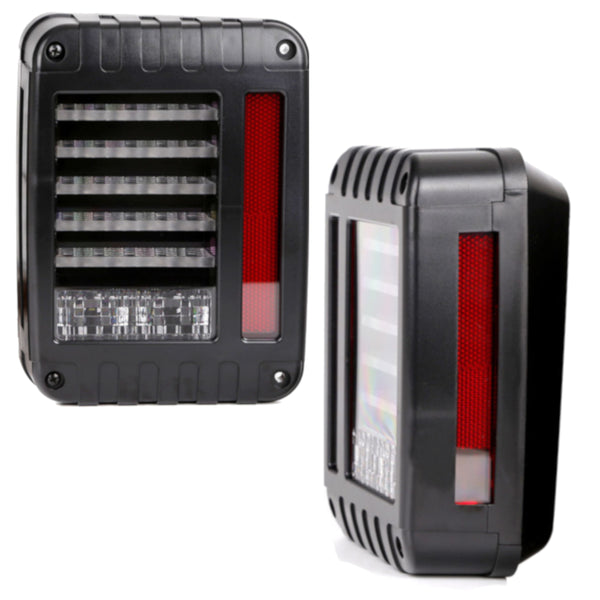 Eagle Lights Generation II Black LED Tail Light Kit for 2007-2018 Jeep Wrangler JK, JKU
